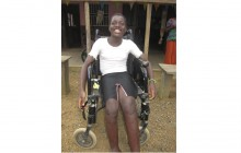 De rolstoel van Miriam