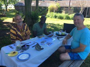 partij-leden op camping Joxhorst